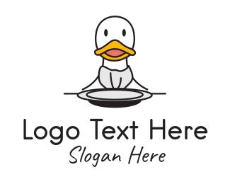 Duck Restaurant Diner Logo
