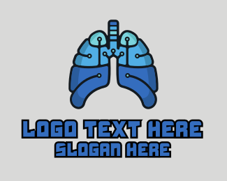 Lungs - High Tech Lungs logo design