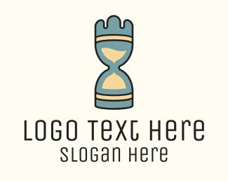 Countdown - Chess Piece Hourglass logo design