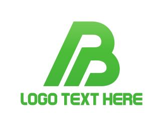 Letter - Green Letter B logo design