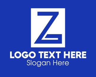 Greek - Blue Greek Letter Z logo design