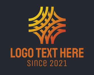 Interaction - Abstract Geometric Octagon logo design