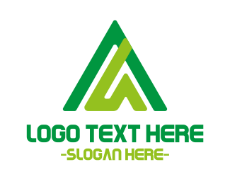 Triangular - Abstract Green Triangle logo design