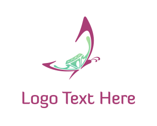 Insect - Butterfly & Diamond  logo design