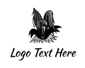 Crow - Black Crow  logo design