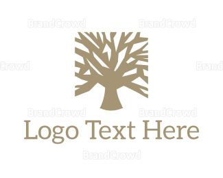 Autumn - Square Tree logo design