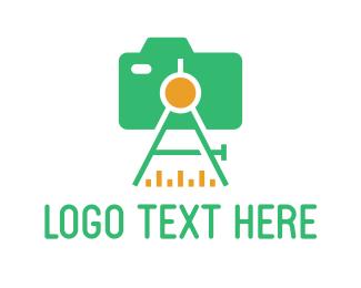 Tripod - Total Station logo design