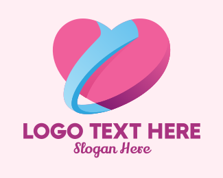 Online Dating - Heart Thumbs Up  logo design
