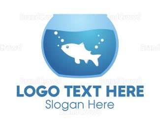 Bowl - Blue Fishbowl logo design