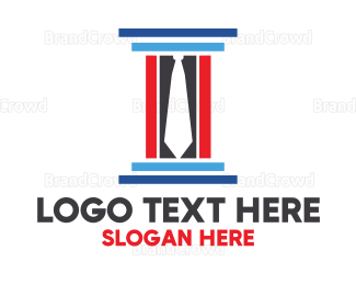 Lawyer - Lawyer Tie Pillar logo design