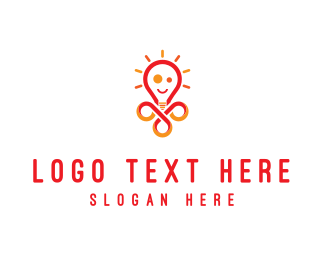 Think Tank - Bright Lamp logo design