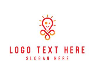 Lamp - Bright Lamp logo design