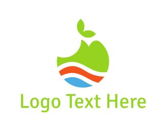 Crisp - Green Apple logo design