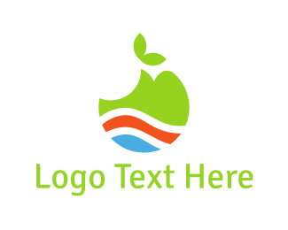 Bite - Green Apple logo design