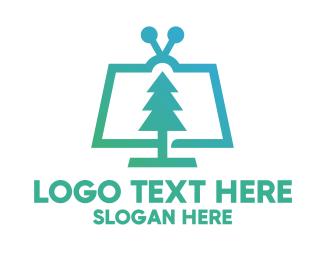 Gradient Pine Media App Logo
