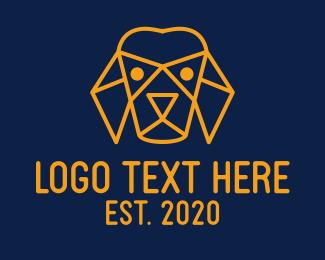 Modern Polygon Puppy  Logo