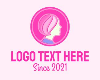 Feminist - Woman Hair Salon logo design