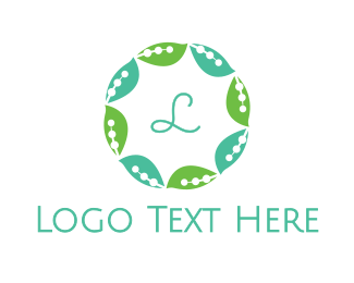 Therapist - Leaf Circle logo design