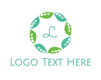 Therapist - Leaf Circle logo design