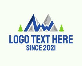 Hiking - Outdoor Mountain Hike logo design