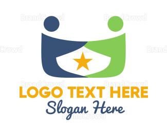 Couple - Star & Couple logo design