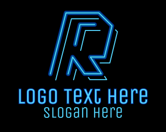 Game Vlogger - Neon Retro Gaming Letter K logo design