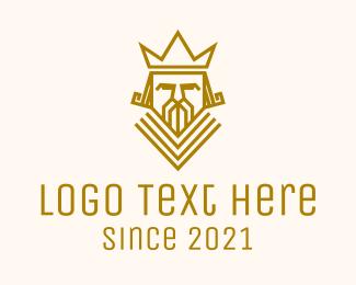 Sovereign - Geometric King Crown logo design