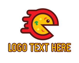Lunch - Pizza Game logo design