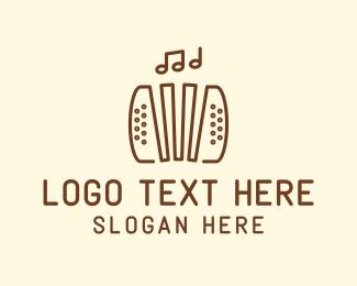 Acoustic - Music Accordion Instrument logo design