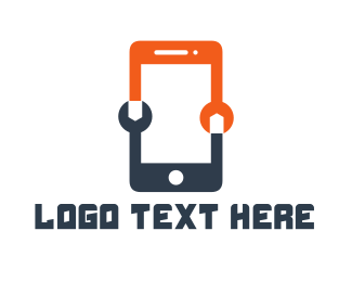 Mobile Phone - Phone Technician logo design