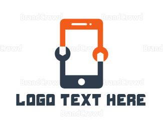Mobile Phone - Phone Technician logo design