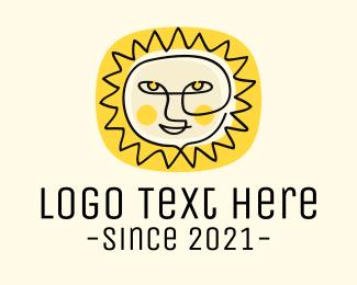 Sun - Happy Sun Face logo design