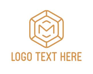 Easy - Diamond Letter M logo design