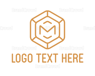 Jewelry - Diamond Letter M logo design