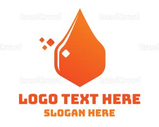 Petroleum - Oil Drop logo design