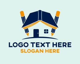 Reading - Book House logo design