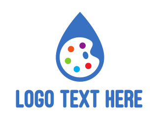 Purification - Water Drop Palette  logo design