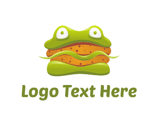 Burger - Frog Sandwich logo design