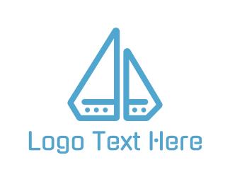 Fiberglass - Diamond Boat logo design