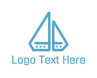 Canoe - Diamond Boat logo design