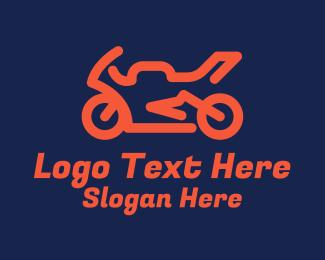 Racing - Motorcycle Racing Sports  logo design