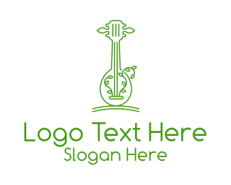 """""""Green Guitar Outline """" by SimplePixelSL"""