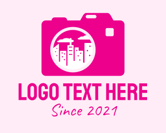 Architectural Photography - Pink City Camera  logo design