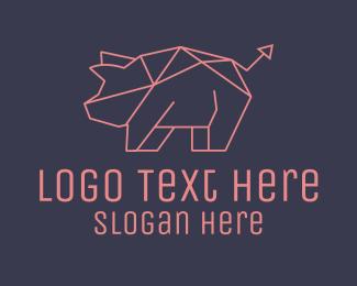 Investment - Piggy Bank Investment Arrow logo design