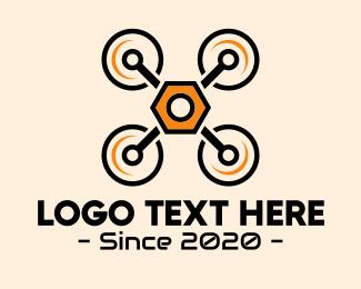 Electronic - Quadcopter Drone Maintenance logo design
