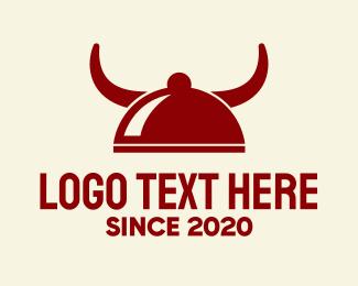 Buffet - Red Horns Buffet logo design