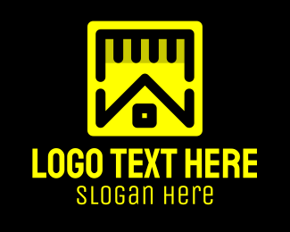 Measuring Tape - Home Builder Contractor logo design