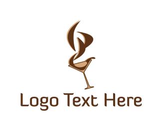 Martini - Brown Martini logo design