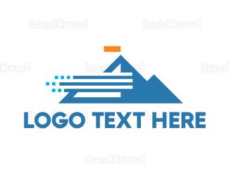 Everest - Abstract Windy Mountain logo design