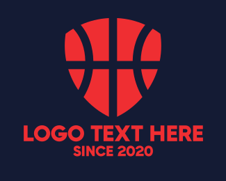 Sports - Basketball Shield logo design